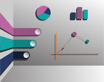 Graphs on a gray background. Various graphs on a gray background Stock Photo