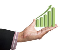 Graphs on hand Royalty Free Stock Photo