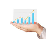Graphs on hand, meeting concept Royalty Free Stock Image