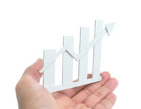 Graphs on the hands. Royalty Free Stock Image