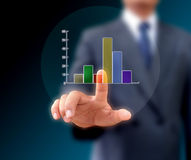 Graphs on the hands royalty free stock photography