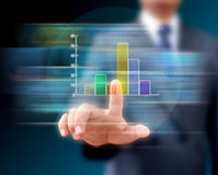 Graphs on the hands of businessmen. Stock Photography