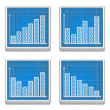 Graphs Icons Stock Photography
