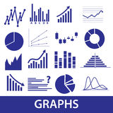 Graphs icons eps10 Stock Photography