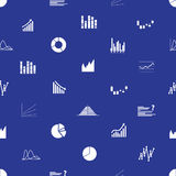 Graphs icons seamless pattern eps10. Graphs icons seamless blue pattern eps10 Royalty Free Stock Photo