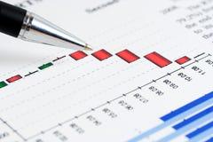 graphs market stock Стоковая Фотография RF