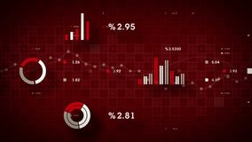 4K Business Data Tracking Red