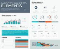 Graphs and pie charts for infographic vector data visualization Stock Photos