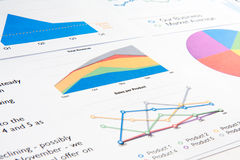 Graphs on a Report Stock Image