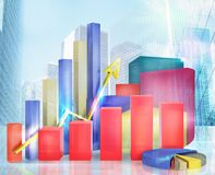 Graphs and stats Stock Image