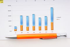 Graphs tables and documents Royalty Free Stock Photography