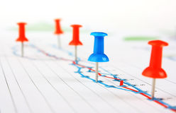 Graphs tables and documents Royalty Free Stock Images