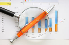 Graphs tables and documents Royalty Free Stock Photos