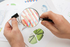 Graphs tables and documents Stock Images
