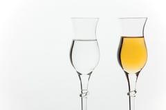 grappa γυαλιών Στοκ φωτογραφία με δικαίωμα ελεύθερης χρήσης