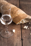 Grappa with Bread Royalty Free Stock Image