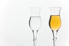Grappa in glasses Royalty Free Stock Photo