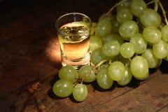 Grappa And Grape Stock Photo