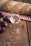 Grappa with Grape and Bread Royalty Free Stock Photo