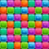 Grappig abstract kleurrijk naadloos patroon Stock Foto's