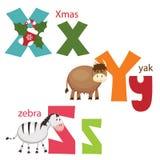 Grappig alfabet Stock Afbeeldingen