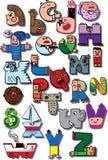 Grappig alfabet Stock Fotografie