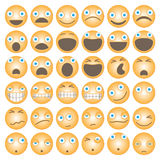 Grappig beeldverhaal emoticons stock illustratie