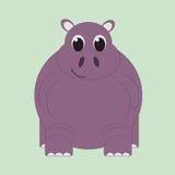 Grappig beeldverhaalnijlpaard Royalty-vrije Stock Fotografie