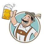 Grappig Beiers mens het drinken bier stock fotografie