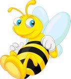 Grappig bijenbeeldverhaal Royalty-vrije Stock Foto