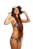 Grappig bikinimeisje Stock Afbeeldingen