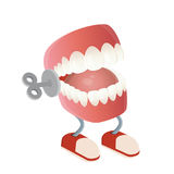 Grappig chattering tandenstuk speelgoed Stock Foto's