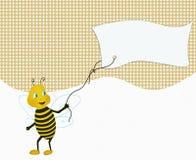 Grappig de reclamedocument van de bijenholding Royalty-vrije Stock Foto
