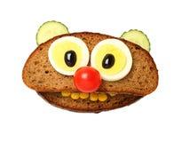 Grappig draag gemaakt met voedselingrediënten Stock Foto