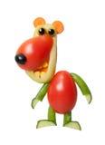 Grappig draag gemaakt van verse sappige groenten Stock Afbeeldingen