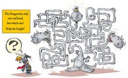 Grappig Dragon Maze Royalty-vrije Stock Foto's