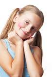 Grappig gelukkig meisje. royalty-vrije stock foto