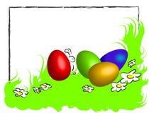 Grappig gelukkig Pasen kader royalty-vrije illustratie