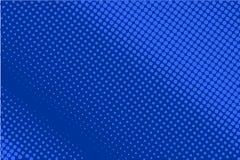 Grappig gestippeld patroon Blauwe kleur Halftone Retro achtergrond als achtergrond met cirkels, punten royalty-vrije illustratie