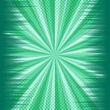 Grappig groen dynamisch explosief leeg malplaatje stock illustratie