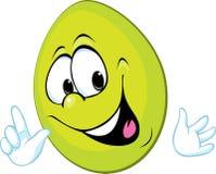 Grappig groen paasei die - vector glimlachen Royalty-vrije Stock Afbeelding