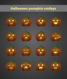 Grappig Halloween smileys Royalty-vrije Stock Afbeelding