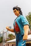 Grappig karakter bij de Weg van Grappige Sterren in Hong Kong Stock Afbeeldingen