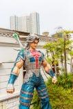 Grappig karakter bij de Weg van Grappige Sterren in Hong Kong Stock Foto's