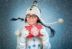 Grappig Kerstmismeisje Royalty-vrije Stock Afbeeldingen