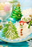 Grappig Kerstmisontbijt voor kind Stock Afbeelding