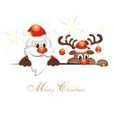 Grappig Kerstmisrendier Stock Foto