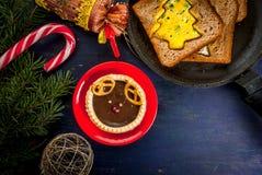 Grappig Kerstmisvoedsel voor jonge geitjes Stock Foto's