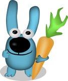Grappig konijntje met een mooie sjaal Stock Afbeeldingen