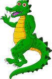 Grappig krokodilbeeldverhaal Royalty-vrije Stock Afbeeldingen